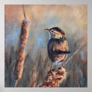 Marsh Wren Bird Fine Art Print