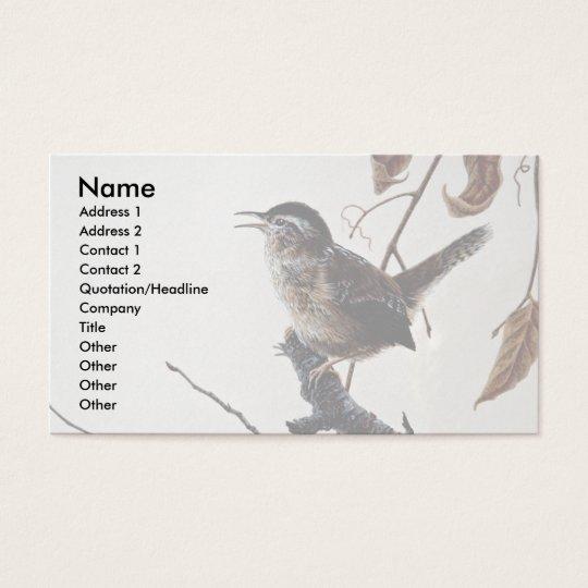 Marsh wren business card