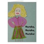 Marsha, Marsha, Marsha! Card