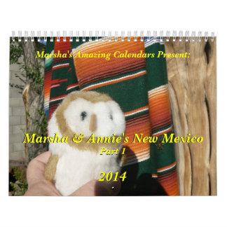 Marsha y New México de Annie (parte 1) 2014 Calendarios De Pared
