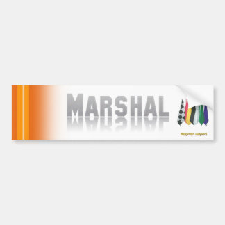 """""""Marshal 2"""" by Flagman Bumper Stickers"""