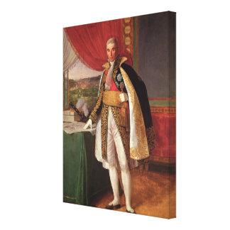 Marshal Andre Massena  Duke of Rivoli, 1814 Canvas Print