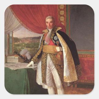 Marshal Andre Massena  Duke of Rivoli, 1814 Square Stickers