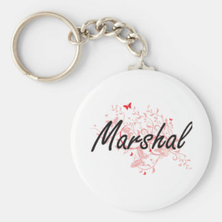 Marshal Artistic Job Design with Butterflies Keychain