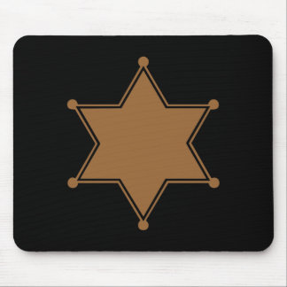 Marshal Badge Mouse Pad