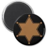 Marshal Badge Refrigerator Magnet