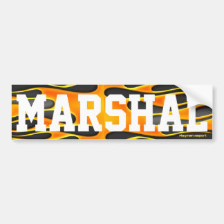 """""""Marshal"""" by Flagman Bumper Stickers"""
