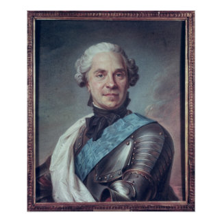 Marshal Maurice de Saxe Poster