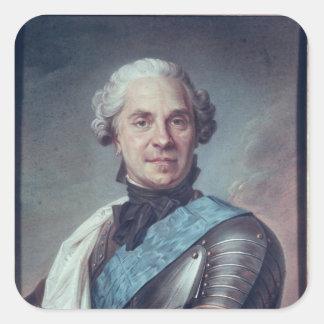 Marshal Maurice de Saxe Square Sticker
