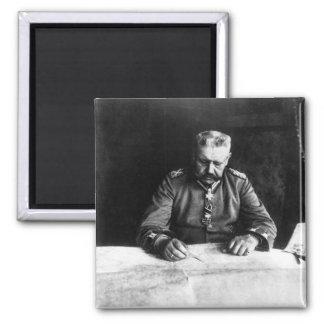 Marshal Paul von Hindenburg, 1914 2 Inch Square Magnet