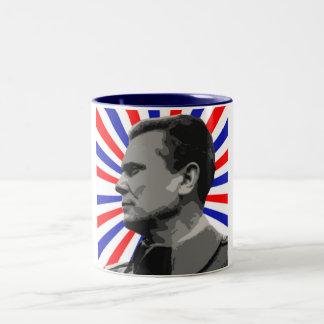 MARSHAL TITO POP ART 1 Two-Tone COFFEE MUG