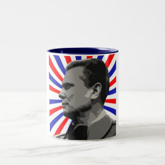 MARSHAL TITO POP ART 1 Two-Tone COFFEE MUG