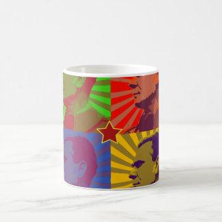 MARSHAL TITO POP ART PORTRAIT CLASSIC WHITE COFFEE MUG