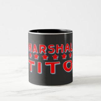 MARSHAL TITO YUGOSLAVIA Two-Tone COFFEE MUG