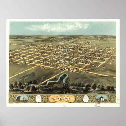 Marshal Town, Iowa Poster