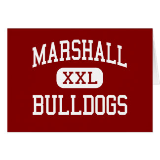 Marshall - Bulldogs - Middle - Beaumont Texas Greeting Card