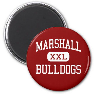Marshall - Bulldogs - Middle - Beaumont Texas 2 Inch Round Magnet