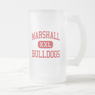 Marshall - Bulldogs - Middle - Beaumont Texas 16 Oz Frosted Glass Beer Mug