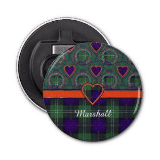 Marshall clan Plaid Scottish kilt tartan Bottle Opener