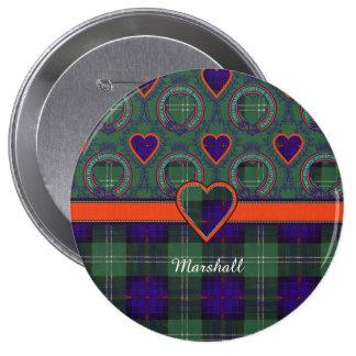Marshall clan Plaid Scottish kilt tartan Buttons