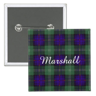 Marshall clan Plaid Scottish kilt tartan Pinback Buttons