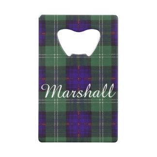 Marshall clan Plaid Scottish kilt tartan Credit Card Bottle Opener