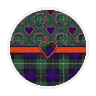 Marshall clan Plaid Scottish kilt tartan Edible Frosting Rounds