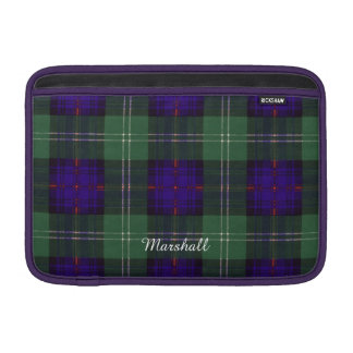 Marshall clan Plaid Scottish kilt tartan MacBook Air Sleeves