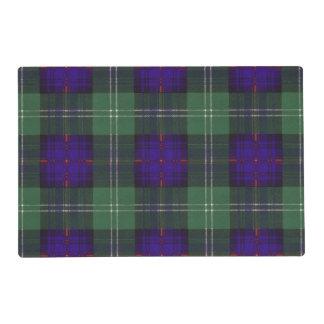 Marshall clan Plaid Scottish kilt tartan Placemat
