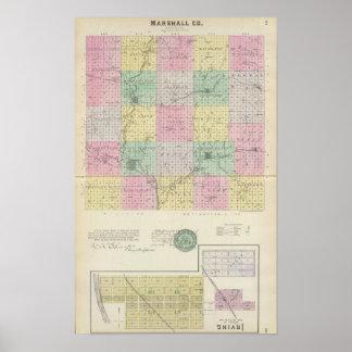 Marshall County and Irving, Kansas Poster