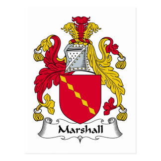 Marshall Family Crest Postcard