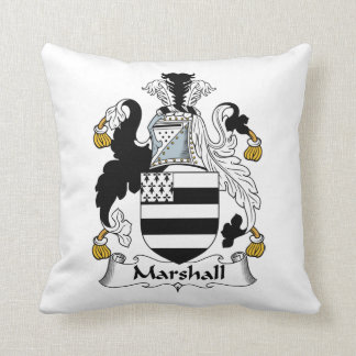 Marshall Family Crest Throw Pillow