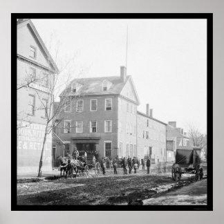 Marshall House in Alexandria, VA 1865 Poster