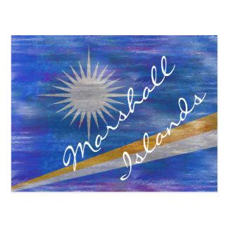 Marshall Islands apenaron la bandera Tarjetas Postales