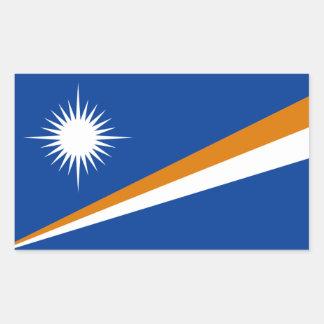 Marshall Islands/bandera de Marshallese Pegatina Rectangular