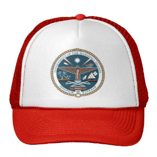 Marshall Islands Coat of Arms detail Trucker Hats