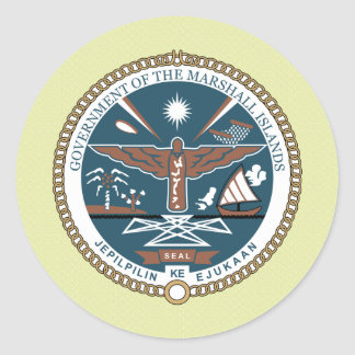 Marshall Islands Coat of Arms detail Classic Round Sticker
