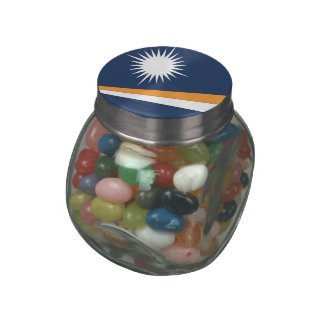 MARSHALL ISLANDS FLAG GLASS JARS