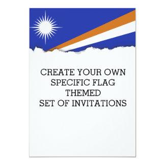 Marshall Islands Flag Card