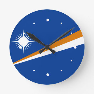 Marshall Islands Flag Round Wallclock