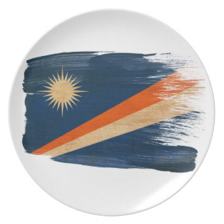 Marshall Islands Flag Dinner Plate