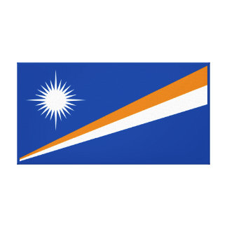 Marshall Islands Flag Gallery Wrapped Canvas