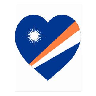Marshall Islands Flag Heart Postcard