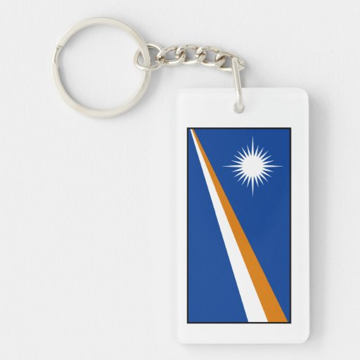 Marshall Islands Flag Double-Sided Rectangular Acrylic Keychain