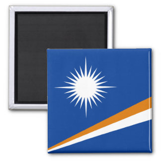 Marshall Islands Flag 2 Inch Square Magnet