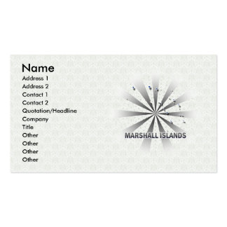 Marshall Islands Flag Map 2.0 Double-Sided Standard Business Cards (Pack Of 100)