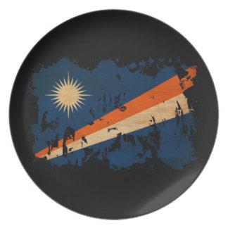 Marshall Islands Flag Melamine Plate