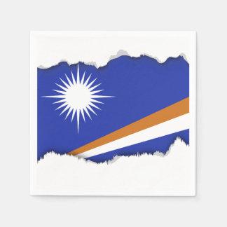 Marshall Islands Flag Paper Napkin