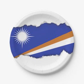 Marshall Islands Flag Paper Plate