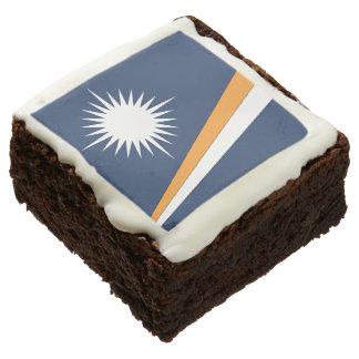 MARSHALL ISLANDS FLAG SQUARE BROWNIE